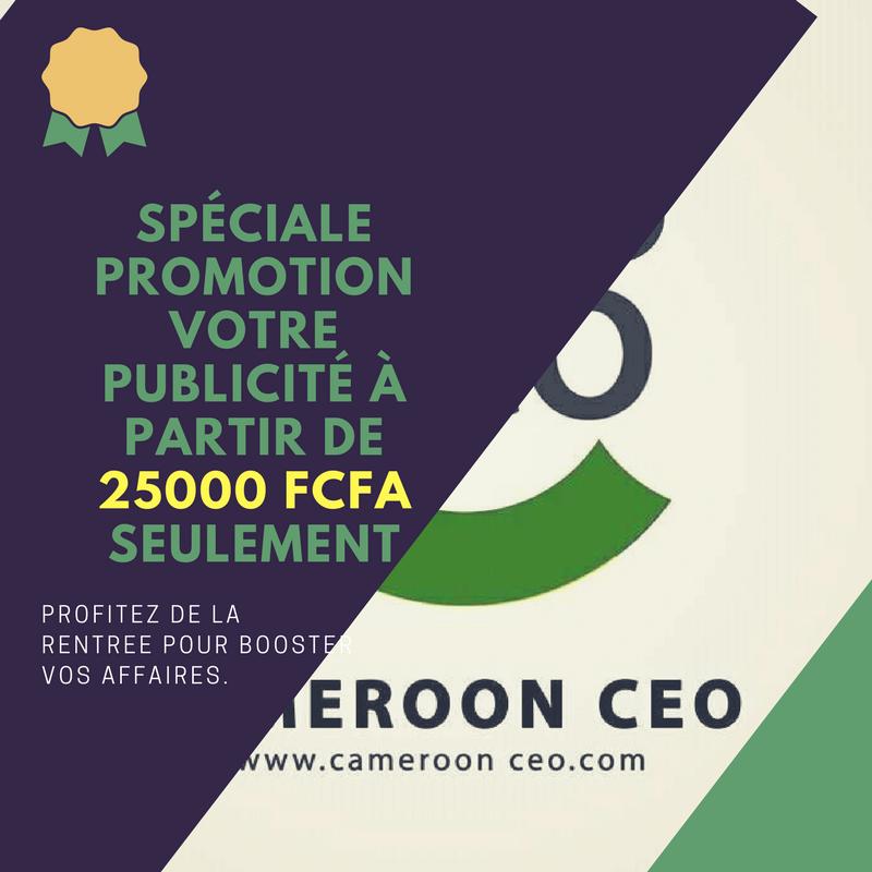 spéciale promotion votre publicité à partir de 25000 FCFA SEULEMENT